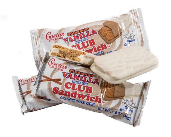 Cinnamon Vanilla Peanut Butter club Sandwich